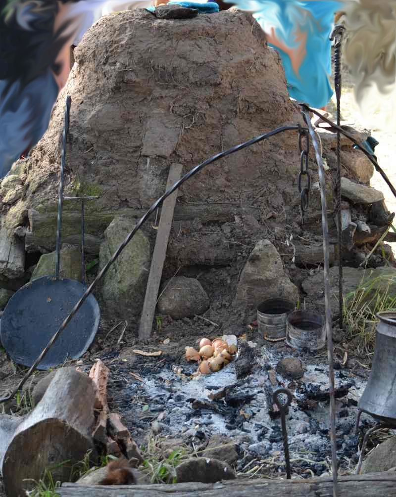 Abbey medieval festival bread pizza oven 2013.jpg