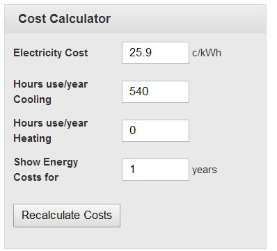 Question Govt Energy Rating Calculator For Aircon Power