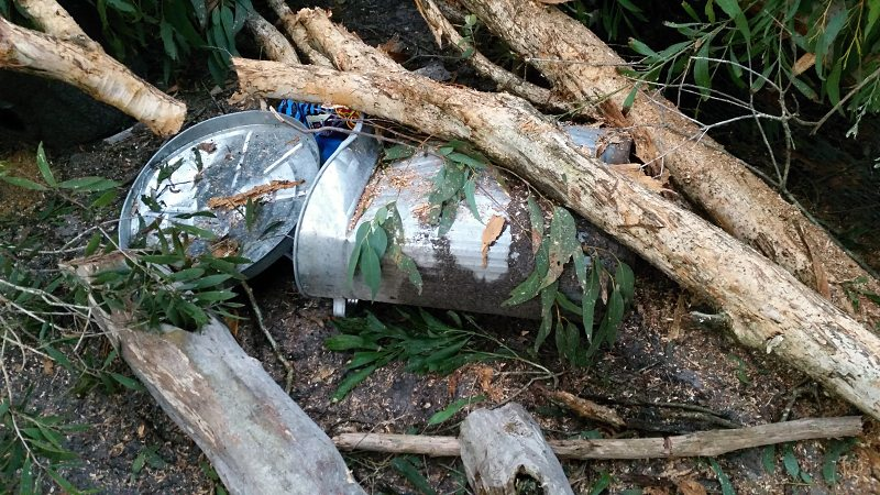 feed bin crushed by tree.jpg
