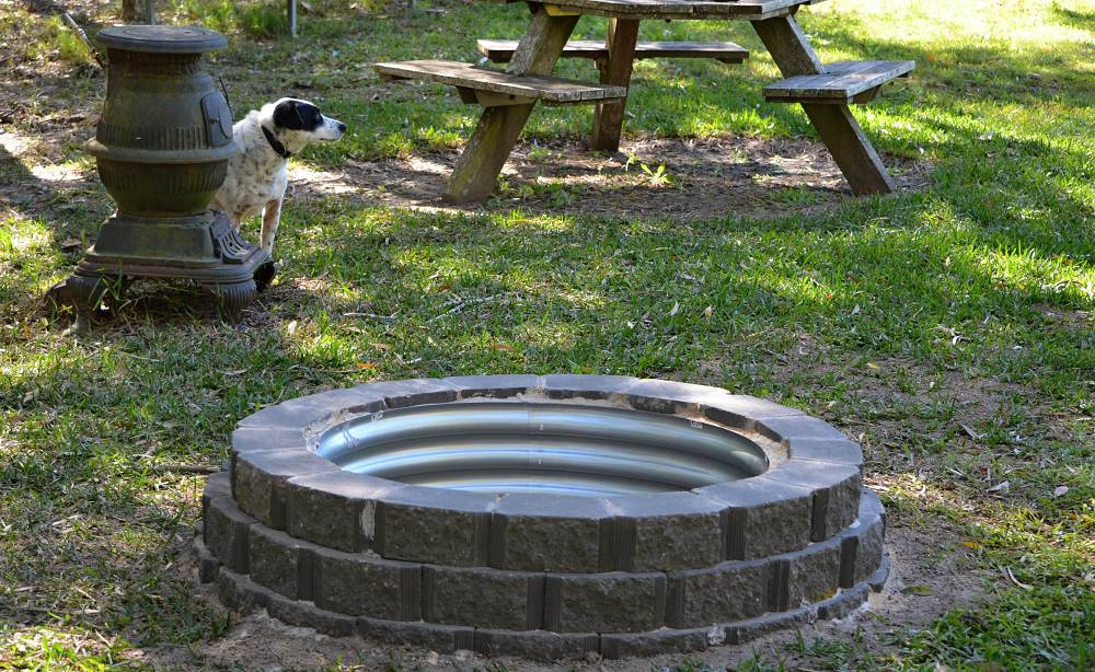 My Fire Pit Build Project Using Retaining Wall Blocks
