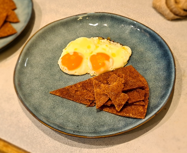 fried eggs with cornmeal flat bread 600.jpg