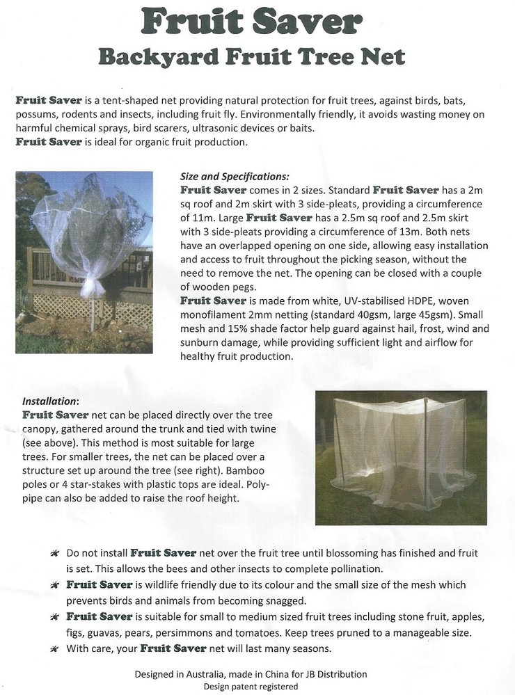 Fruit Saver Tree Net Instructions Protect Against Animals And Fly 800 Jpg