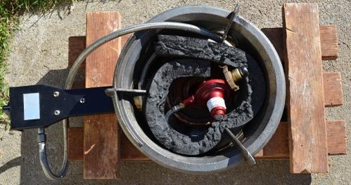 Natural Gas Wok Burner Builtin