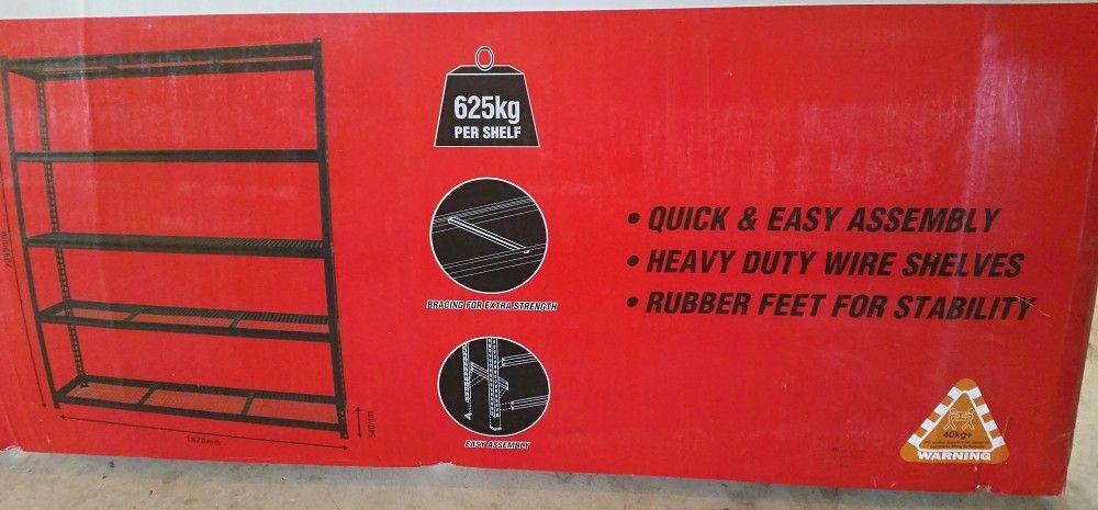 Romak shelving 5 Tier heavy duty Bunnings 625kg per shelf.jpg