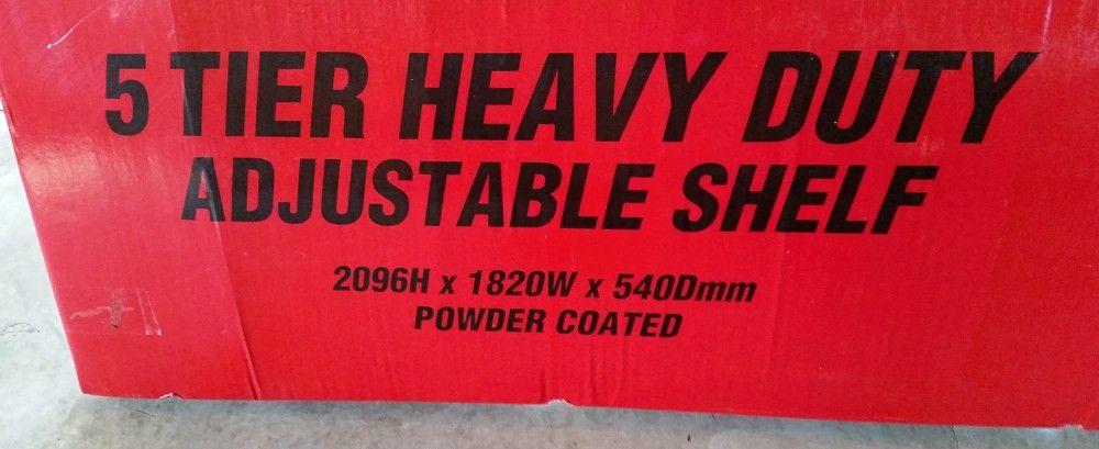 Romak shelving 5 Tier heavy duty Bunnings dimentions size width.jpg
