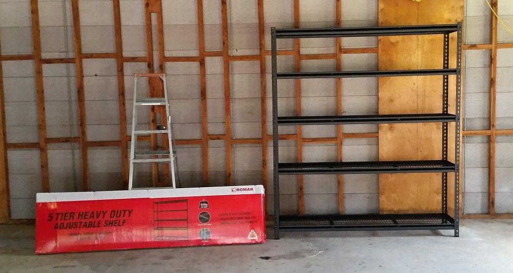 Romak shelving 5 Tier heavy duty Bunnings.jpg
