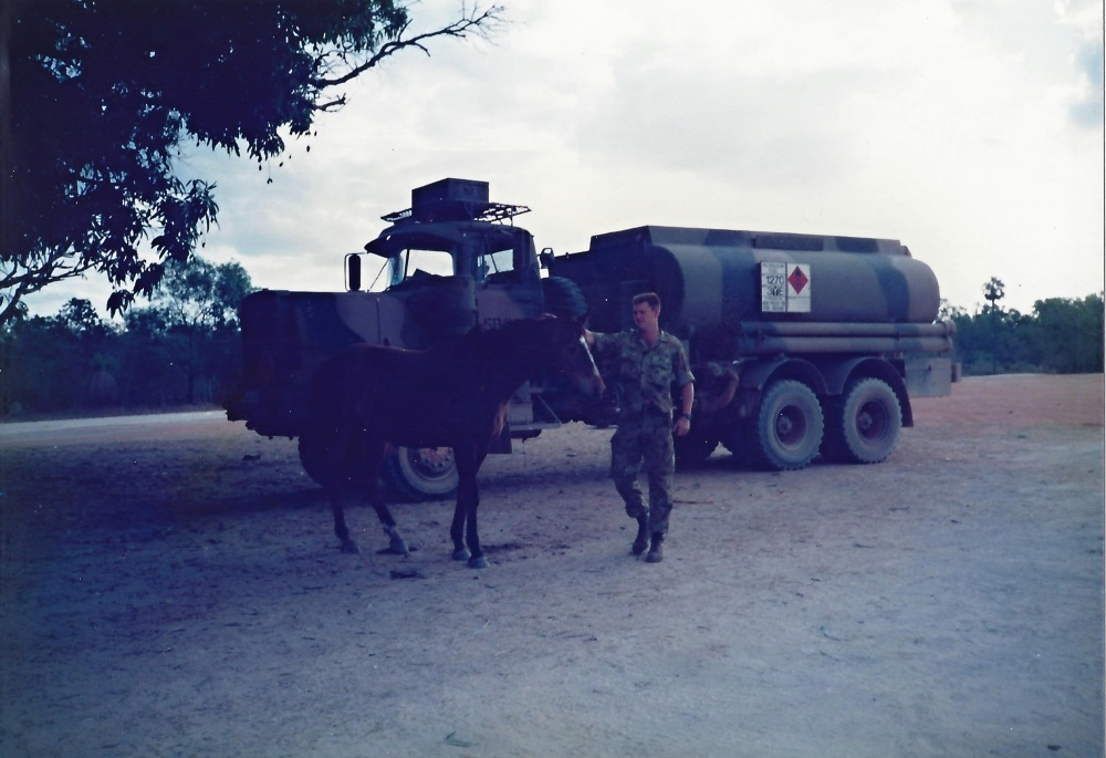 truck army fuel tanker and horse animal encounter.jpg
