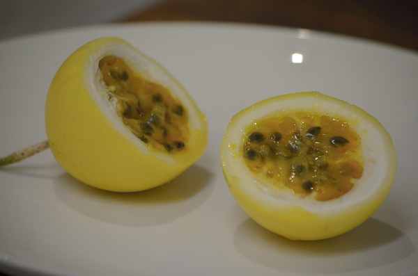 yellow passionfruit self seed on plate.jpg